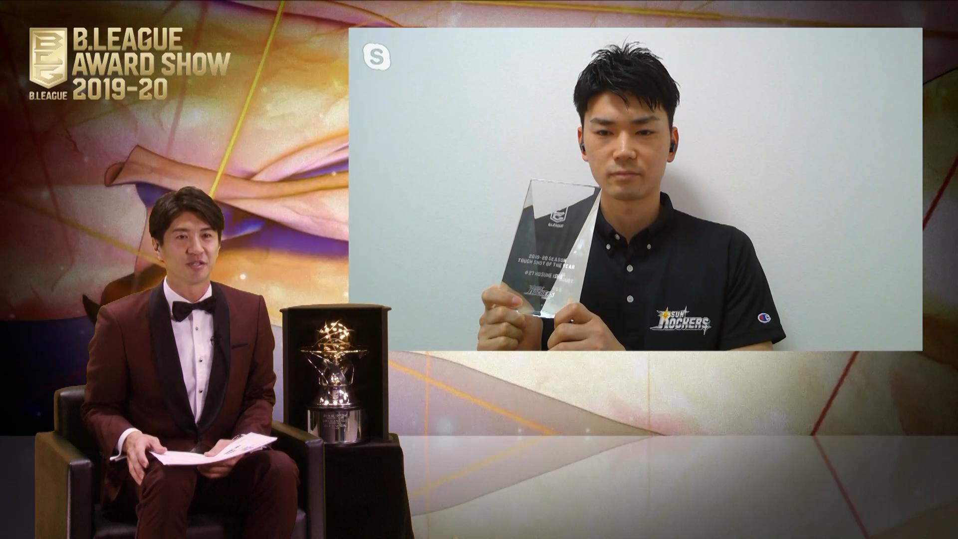 ベストタフショット賞の石井講祐  来年は沖縄でしっかりとしたプレーを見せる